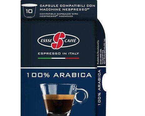 Esecafe Arabica comp Nespresso. 100% Arábica. Caja con 10 cápsulas compatibles con Nespresso