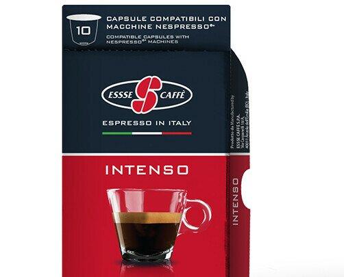 Esecafe Intenso  comp Nespresso. Intenso, cremoso y aterciopelado. Caja con 10 cápsulas compatibles con Nespresso