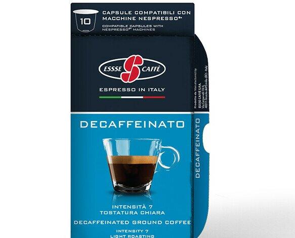 Esecafe sescafeinado. Sabroso y delicado. Caja con 10 cápsulas compatibles con Nespresso