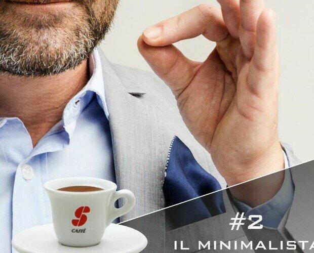 Il minimalista. Taza de cafe ESSSE CAFFE. Típico ristreto Italiano.