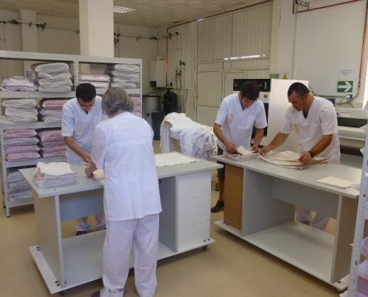 Servicios de lavandería. Centro Especial de Empleo Salutnet