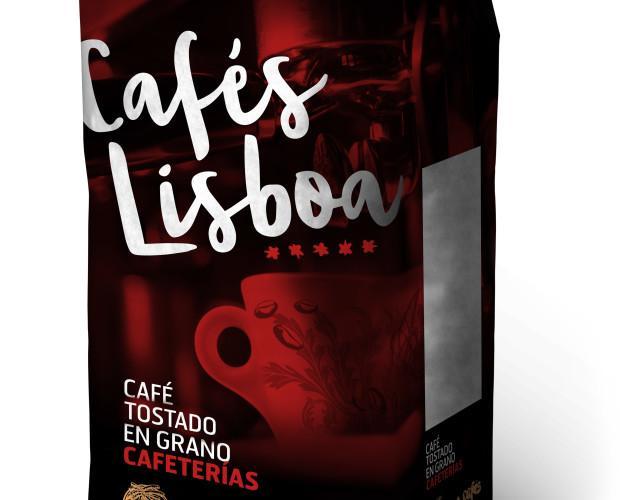 Cafés Lisboa tostado. Café Cafeterías 80x20