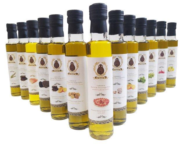 Aceites aromatizados. Aceites de Oliva Aromatizados con especias naturales y todo el sabor de nuestro AOVE