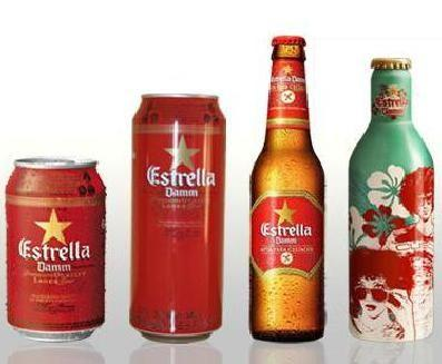 Cervezas. Cervezas con alcohol Estrella de Damm
