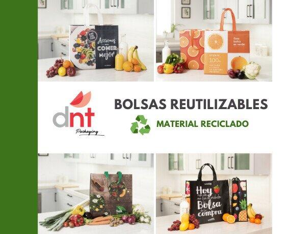 Bolsas reutilizables. Bolsas reutilizables totalmente personalizadas a las necesidades de cada empresa.