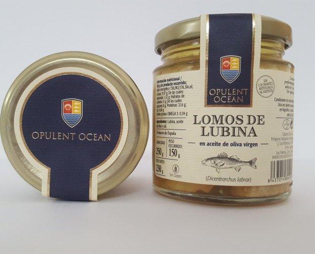 Conservas de Pescado.Conserva de lubina en aceite de oliva virgen