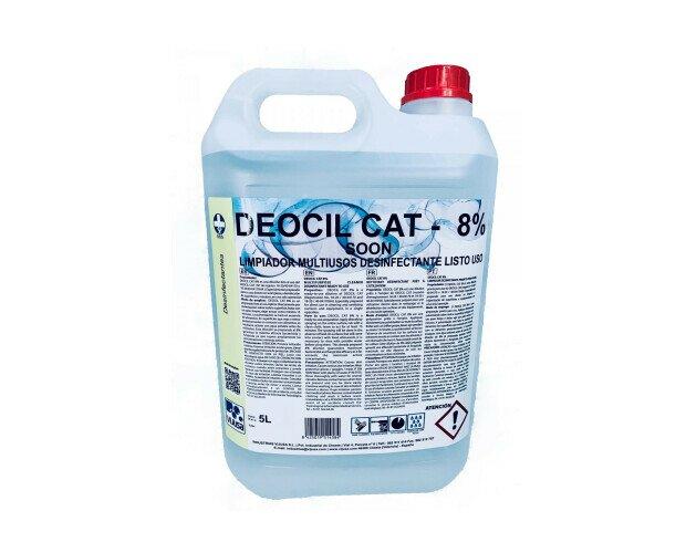 DEOCIL CAT 8% Galón. Cumple con la norma UNE-NE 14476, para la desinfección