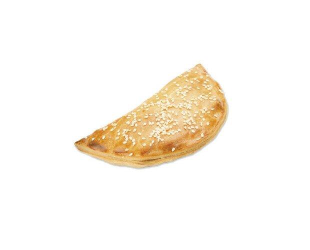 Empanadilla Kebab. Estilo árabe con un relleno que combina pollo, pavo y especias
