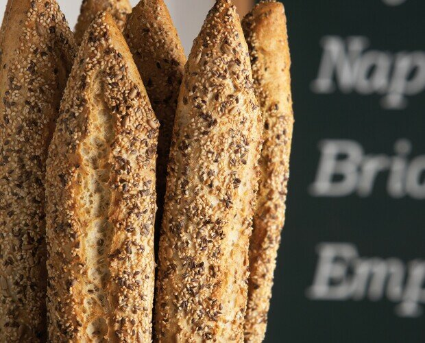 Pan con cereales. Utilizando materias primas de máxima calidad