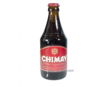 Cerveza Chimay Roja. Estilo Abadia Trapense, 33cl