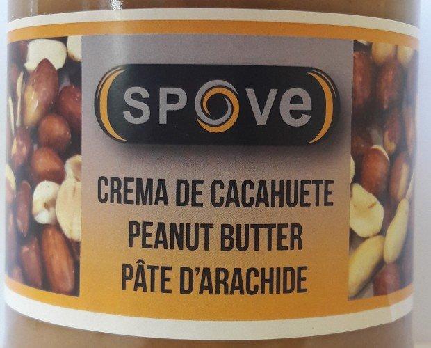 Crema de cacahuete Spove. Deliciosa mantequilla de cacahuetes