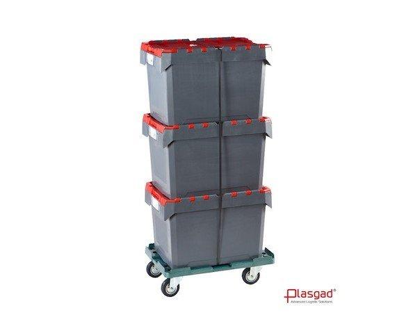 Cajas de plástico. Cajas de plástico para distribución, encajable, plegables, bases rodantes, etc.