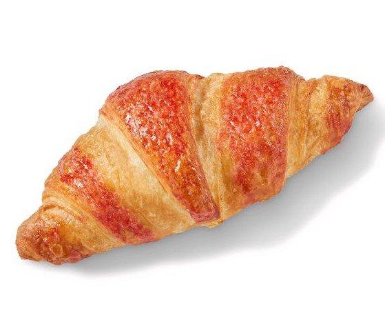 Croissant vegan. vegan vegano relleno frambuesa margarina vegetal