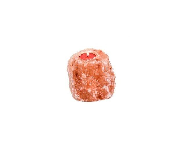 Portavela. Diseño rústico, sal del himalaya