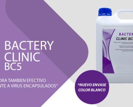 Bactery Clinic BC5. Es un detergente desinfectante de alto espectro