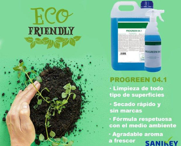 Progreen 041. Multiusos de gran eficacia para la limpieza de todo tipo de superficies