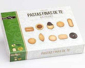 Pastas Artesanales Surtidas.Harina de trigo, mantequilla, azúcar, huevos, cacao, almendras, avellanas, chocolate