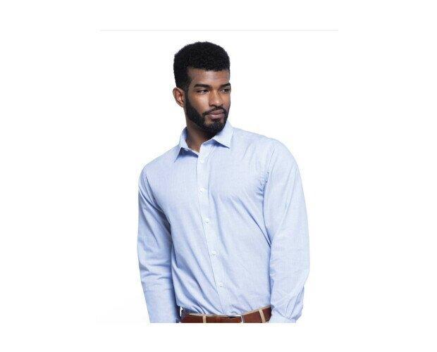 Camisa Laboral de Tela. Destaca por su resistencia y tacto sedoso