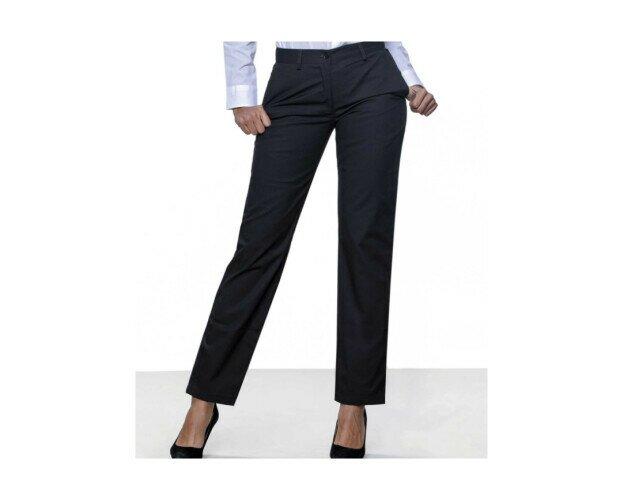 Pantalón Chino de Mujer. Cierre de cintura con botón con logo de JHK
