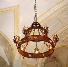 Lámpara de forja. Decoración para interior y exterior