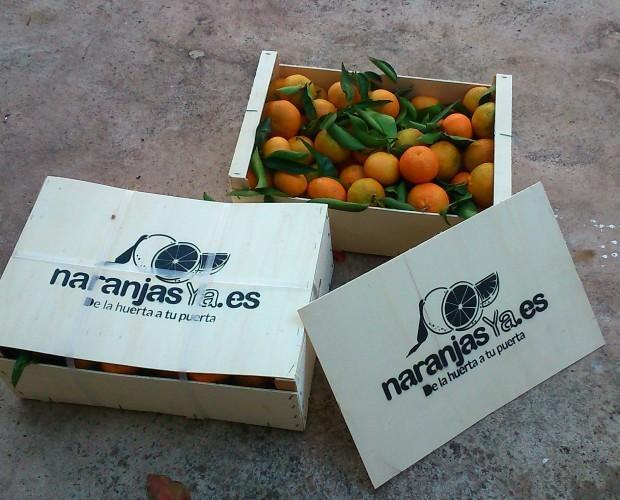 Naranjas.Caja de naranjas de 10kg