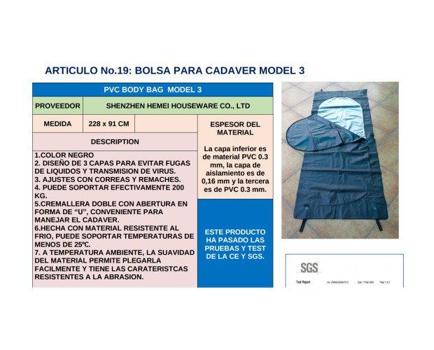 Bolsas y Fundas Especiales.Modelo 3, diseño de 3 capas para evitar fugas de líquido y trasmisión de virus