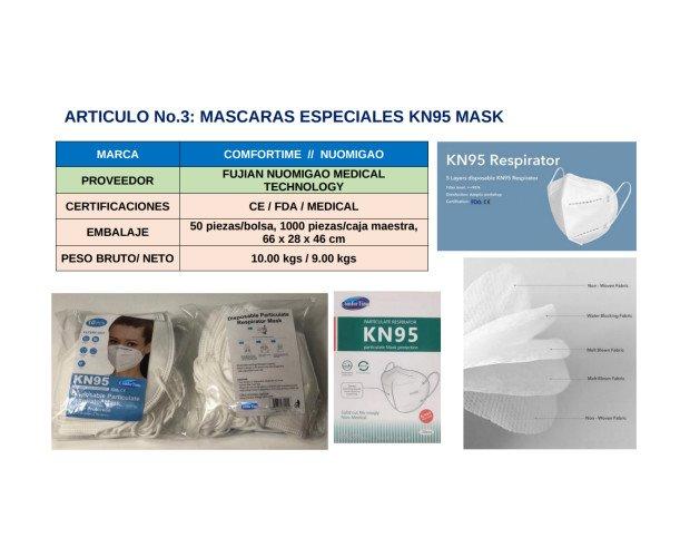 KN95 Mask. Mascarilla de 5 capas desechable