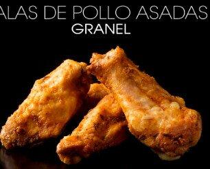 Alas de pollo asadas. Alas de pollo a granel congeladas