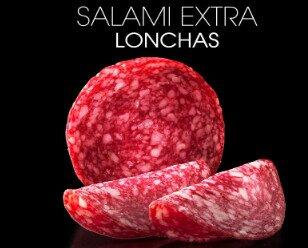 Salami en lonchas. Ofrecemos salami de categoría extra