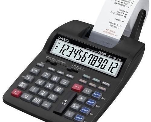 Calculadoras.Calculadora Casio HR-150TEC de sobremesa