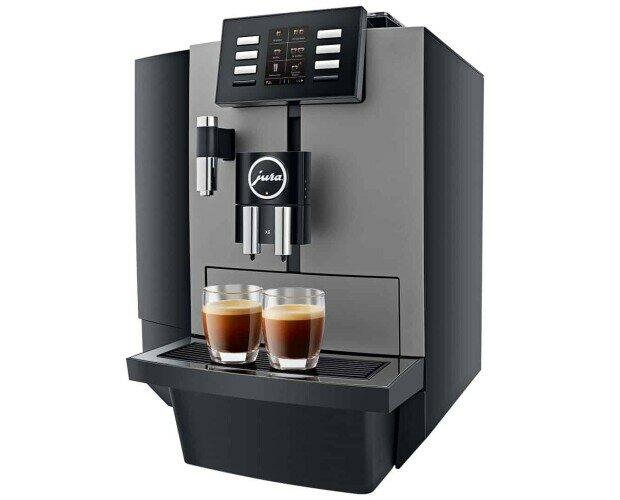JURA X6. Es posible preparar todas las especialidades de café en su pantalla