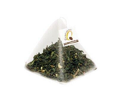 Té verde con jazmín. Mezcla de té y especies vegetales para infusión.