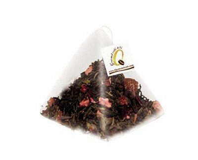 Té rojo. Delicioso té con hibisco y frutas
