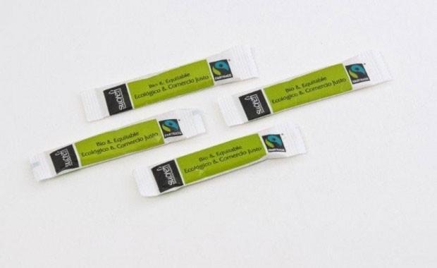 Azúcar ecológico. Sticks de 4 a 7 gramos, envases de 1000 y 1250