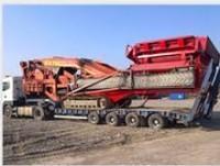 transporte de maquinaria de construcción