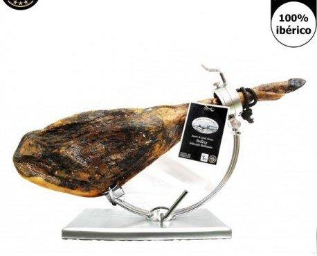 Jamón pata negra Ibérico. Elaborado de forma artesanal. Curación superior a 3 años,