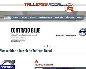 Talleres Rocal. Web oficial de un taller de camiones.