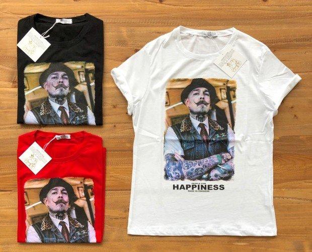 Camisetas Estampadas de Hombre.Blanco, rojo,y negro