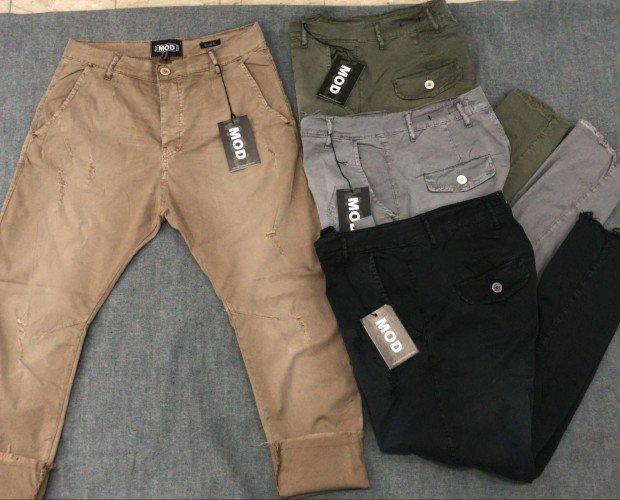 Pantalones casuales. Beige, negro, gris