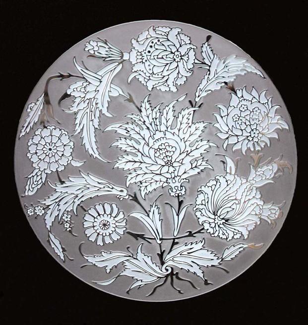 Floral. Diseño lforal arenado varios tonos
