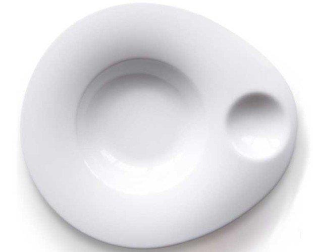 Plato ovo. Plato de porcelana de alta calidad