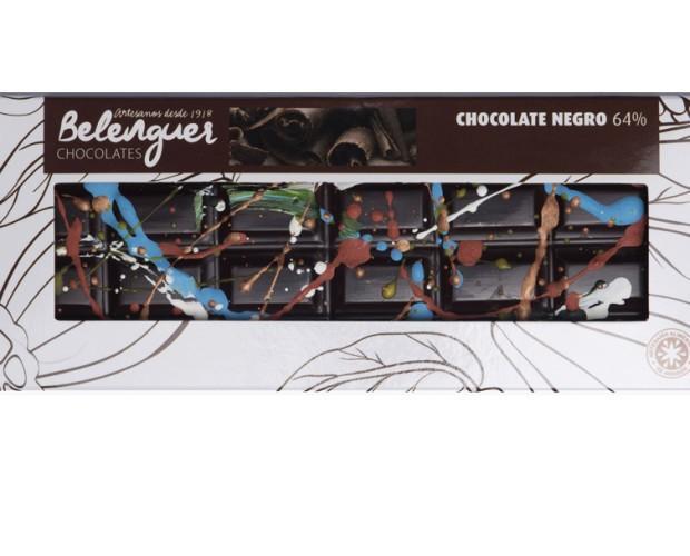 Chocolate pintado. Chocolate negro, pintado a mano, el chocolate más creativo.