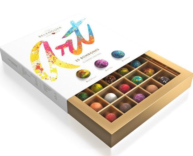 Caja 25 bombones. Caja con la colección completa de bombones.
