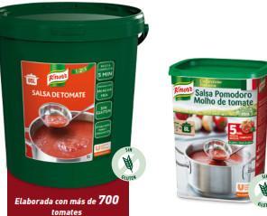 Salsa de tomate. Salsa Knorr