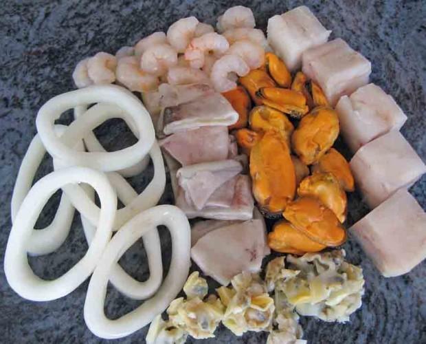 Paella y sopa. Ingredientes paella y sopa