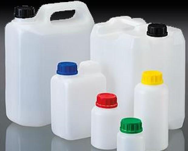 botellas de plástico. botellas para envase
