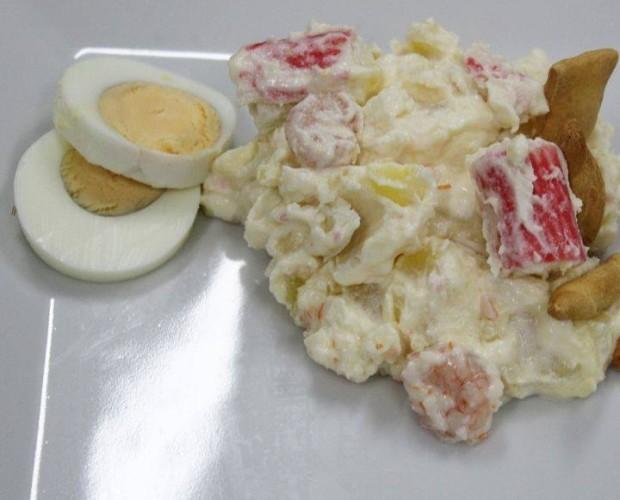 Ensaladilla de Marisco. Rica ensalada