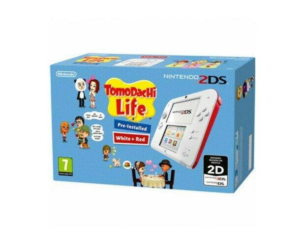 Consola Nintendo 2DS. En color Rojo que incluye el juego Tomodachi Life preinstalado