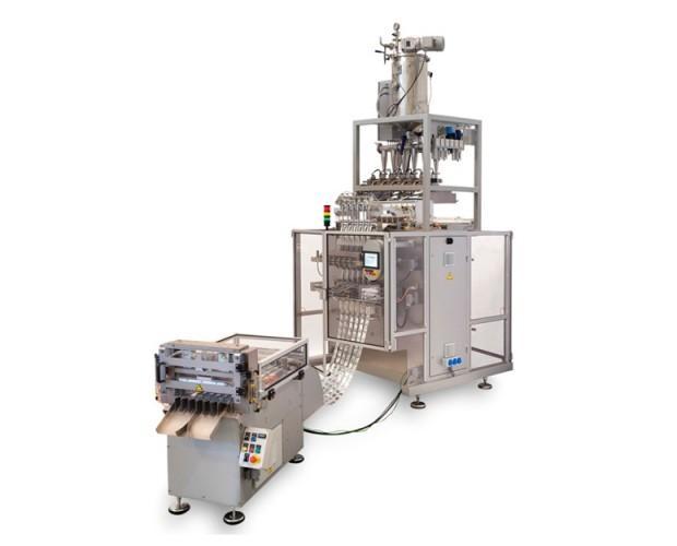 Máquina multipista. La an650-TW ha sido diseñada para ofrecer un alto rendimiento en el proceso de envasado de dos productos diferentes en el mismo sobre