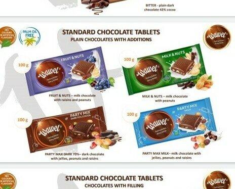 Bombones de Chocolate.Gran variedad de dulces. Fabricante bien conocido en todo el mundo. Novedad en España